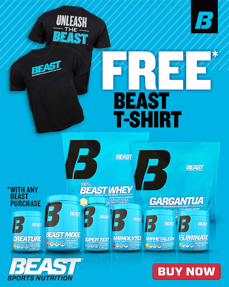 FREE BEAST T-SHIRT WITH ANY BEAST PURCHASE!
