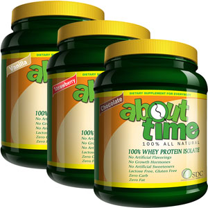 About Time 100% All Natural Whey Protein Isolate - 2 lbs