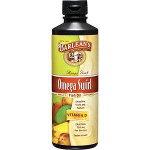Barlean 39 s omega swirl omega 3 fish oil mango peach 16 oz for Barleans fish oil