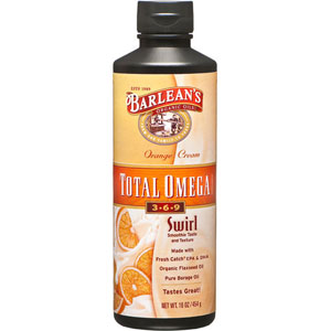 Barlean's Total Omega Swirl Complete Omega-3,6,9 - Orange Cream 16 oz