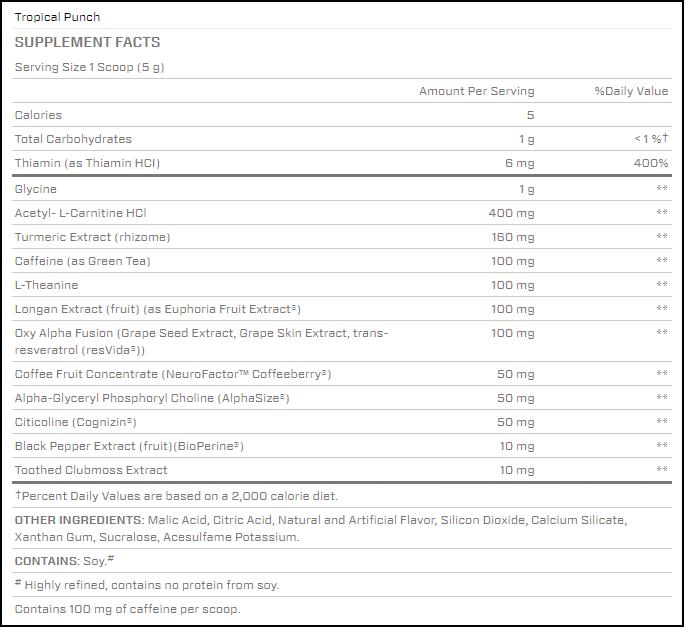BSN NEURO FX Pre-Workout Tropical Punch 5.29 oz