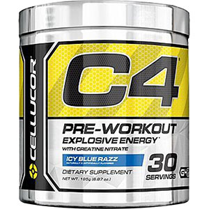 Cellucor C4 Pre-Workout Explosive Energy Icy Blue Razz 195 gm