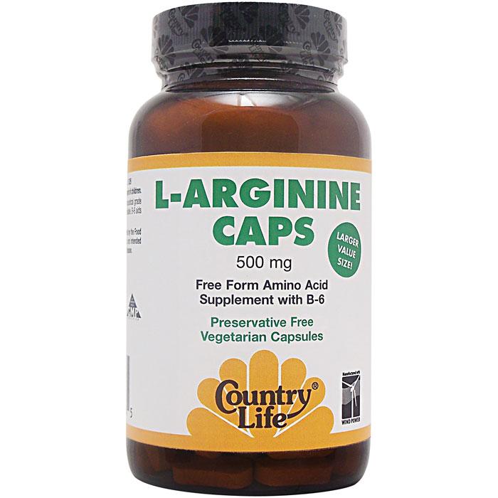 Country Life L-Arginine with B 6 200 Capsules