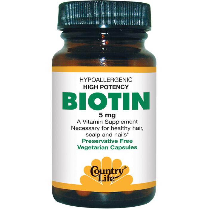 Country Life Biotin 5mg 120 Capsules