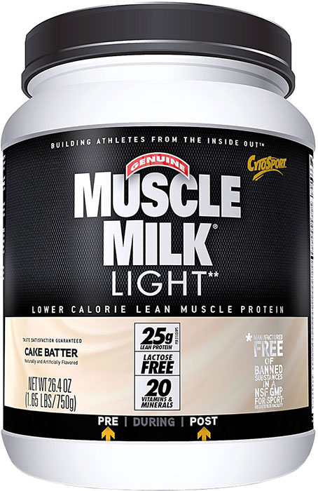 muscle milk light cake batter lb 30 servings. Black Bedroom Furniture Sets. Home Design Ideas