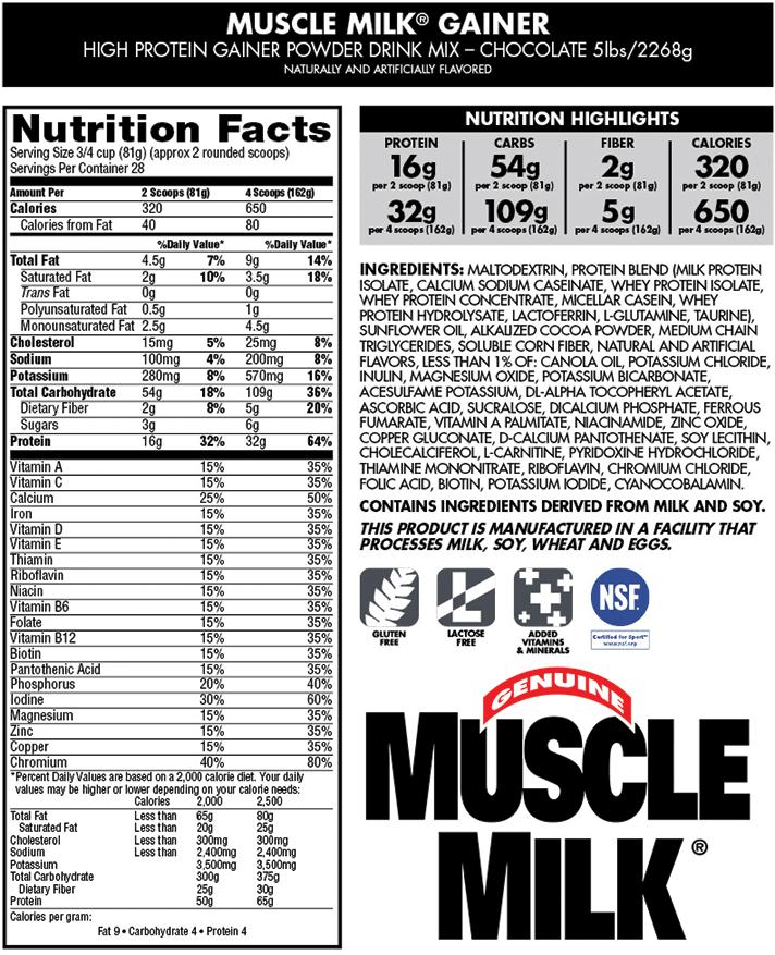 Znalezione obrazy dla zapytania muscle milk gainer