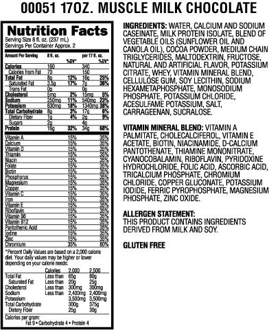 Cytosport Muscle Milk Chocolate Ready To Drink 17 Oz 32