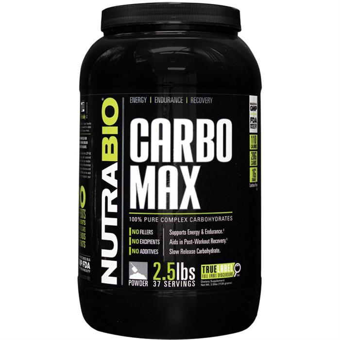Nutrabio Carbomax Maltodextrin 2 5 Lb 37 Servings