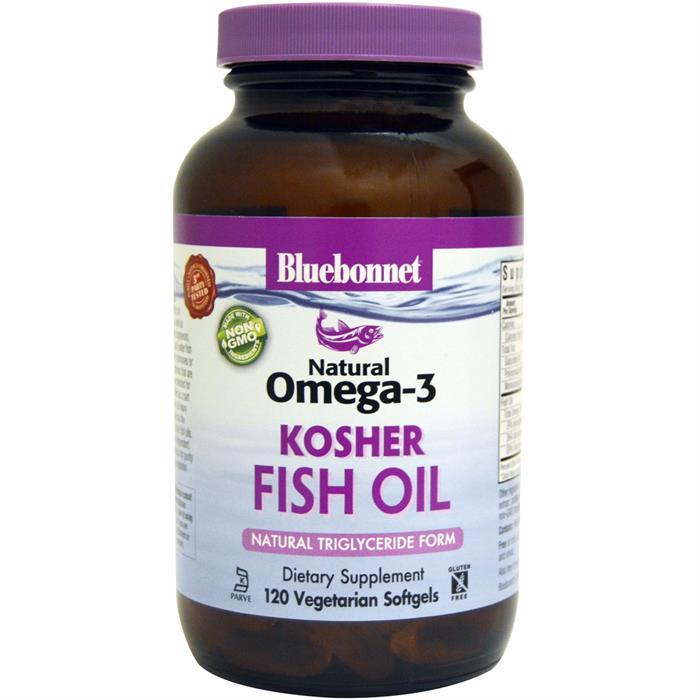 Bluebonnet natural omega 3 kosher fish oil 120 softgels for Non fish omega 3