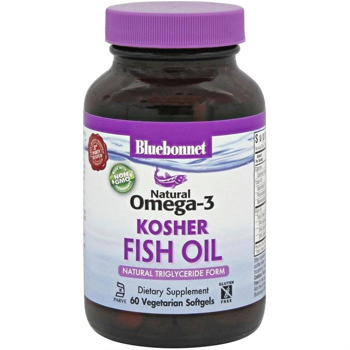 bluebonnet natural omega 3 kosher fish oil 60 softgels