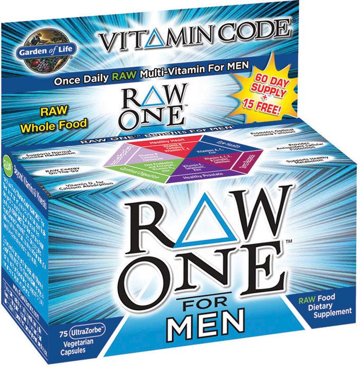 Garden Of Life Vitamin Code Raw One For Men 75 Capsules