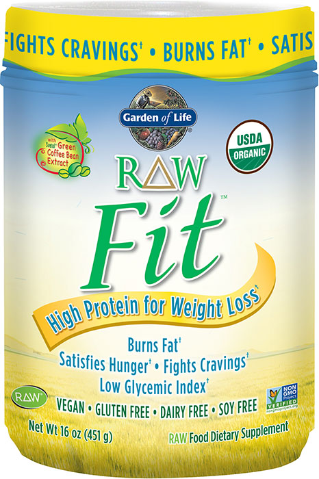Garden Of Life Raw Fit High Protein For Weight Loss Original 16 Oz 10 Servings