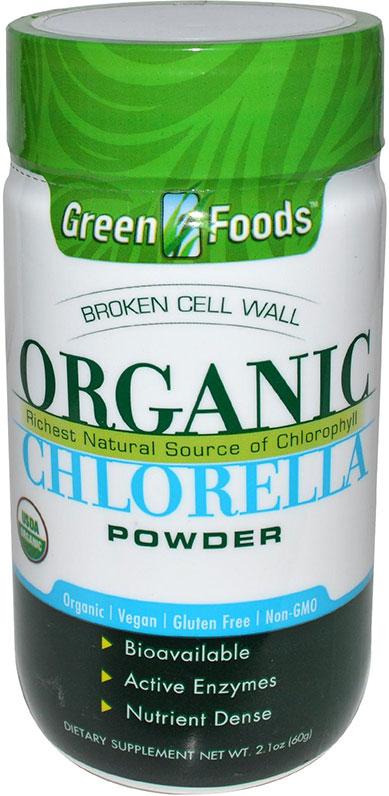 Green Foods Organic Chlorella Powder 2 1 Oz 20 Servings