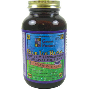 Blue Ice Royal Butter Oil / Fermented Cod Liver Oil Blend Gel - Cinnamon Tingle