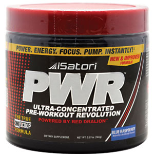 Isatori PWR Blue Raspberry Ultra-Concentrated Pre-Workout Revolution 144 gm