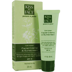All Natural Cell Mate (Facial Creme & Sunscreen) SPF 15 from Kiss My Face 1 oz