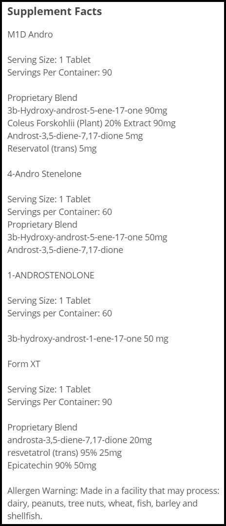 Legal Gear Bulking Andro Kit By Lg Sciences 6 Week Cycle