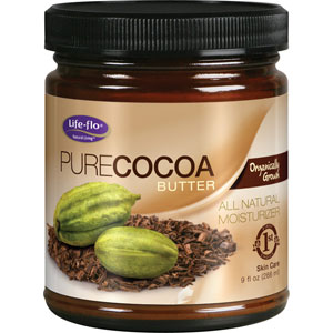 Life-flo Pure Cocoa Butter Organic 9 oz Cream