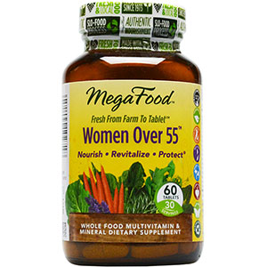 MegaFood Woman's Over 55 Multivitamin - 60 Tablets, 30 Servings