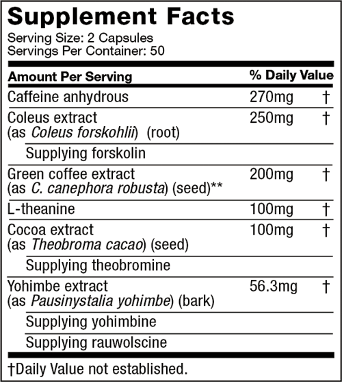 Hydroxycut hardcore ingredient list