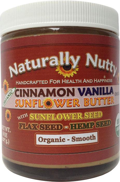 ... Nutty Organic Cinnamon Vanilla Sunflower Butter 8 oz - 7 Servings