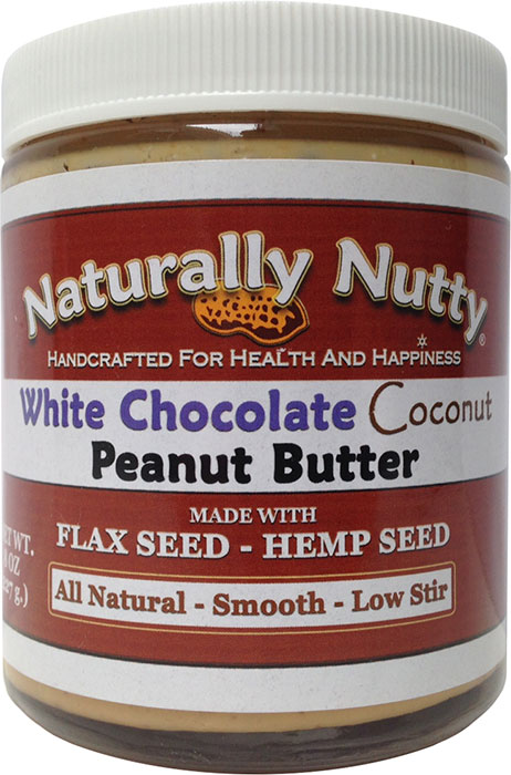 Naturally Nutty White Chocolate Coconut Peanut Butter 8 oz ...