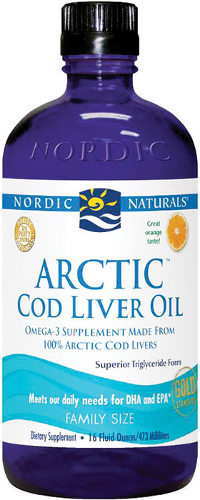 Nordic naturals arctic cod liver oil orange 16 oz 96 for Nordic naturals fish oil liquid