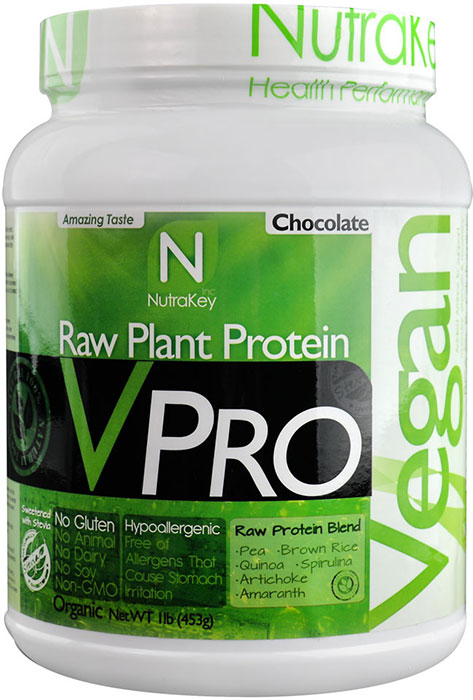 Nutrakey V Pro Vegan Protein Chocolate 1 Lb 15 Servings