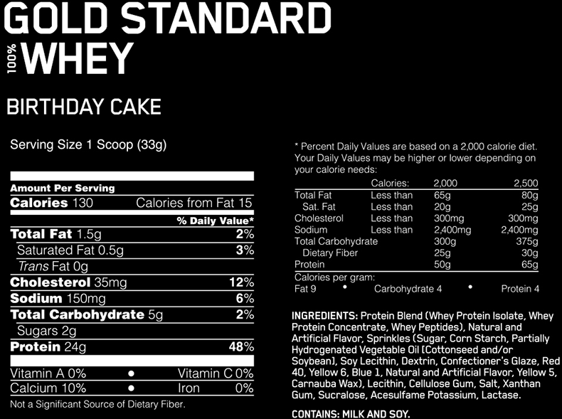 Protein Powder Birthday Cake