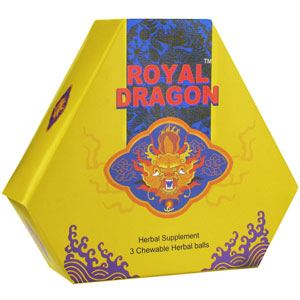 Royal Dragon - The Super Sexual Herbal Ball - 3 Chewable Herbal Balls