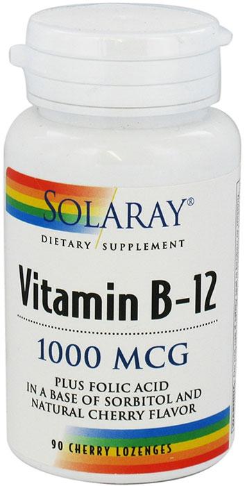 Solaray Vitamin B 12 Plus Folic Acid 1000 Mcg 90 Cherry