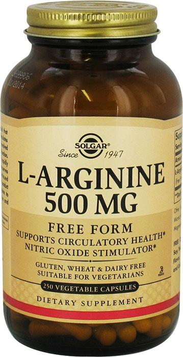 Solgar L-Arginine 500 mg Vegetable 500 mg - 250 Capsules