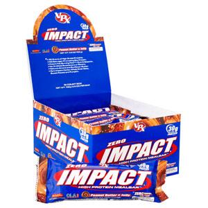 VPX ZERO IMPACT Peanut Butter & Jelly Protein Bars - 12 Bars