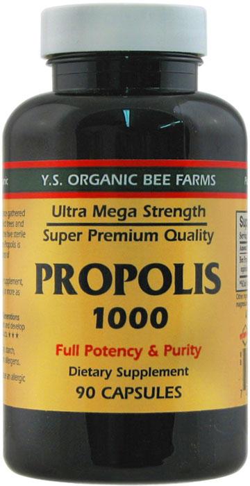 YS Organic Bee Farms Propolis 1000 Mg 90 Capsules