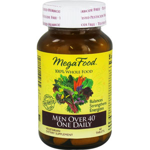 MegaFood Men Over 40 One Daily 60 Tablets