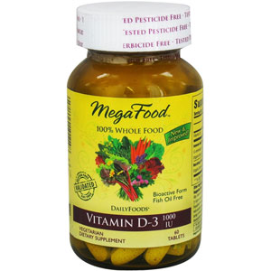 MegaFood Vitamin D3 1000 IU 60 Tablets