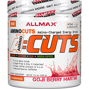 Allmax AMINOCUTS Amino-Charged Energy Drink Goji Berry Martini 210 gm - 30 Servings