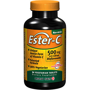 Ester-C 500 mg with Citrus Bioflavonoids - 90 Vegetarian Tablets