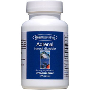 Allergy Research Group Adrenal Natural Glandular 150 Capsules