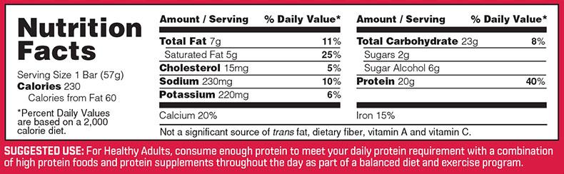 Image result for bsn protein crisp bar nutrition