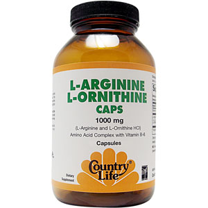 Country Life L-Arginine L Ornithine 1000 mg 180 Capsules