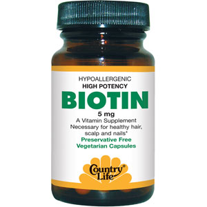 Country Life Biotin 5mg 120 Capsules