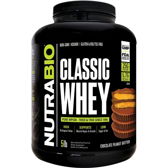 Nutrabio Classic Whey Protein Chocolate Peanut Butter 5 Lb