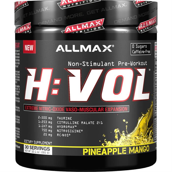 Allmax Nutrition HVOL Stimulant Free Pre Workout Pineapple Mango