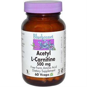 Bluebonnet Acetyl L-Carnitine 500 mg - 60 Vegetable Capsules