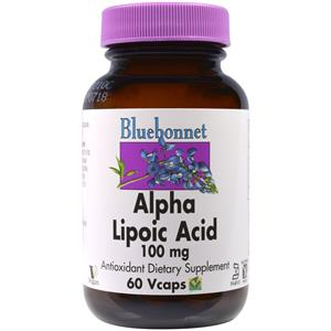 Bluebonnet Alpha Lipoic Acid 100 mg - 60 Vegetable Capsules