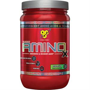 BSN AMINO X Effervescent Instantized BCAA's Green Apple 435 gm