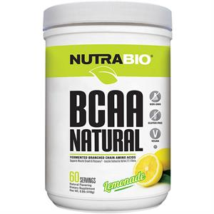 NutraBio BCAA Natural Powder Lemonade 418 gm - 60 Servings