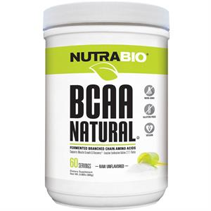 NutraBio BCAA Natural Powder Raw Unflavored 300 gm - 60 Servings