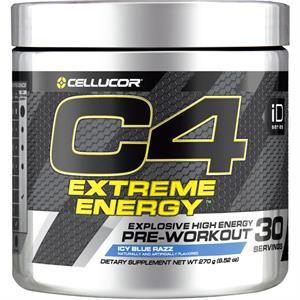 Cellucor C4 EXTREME ENERGY Pre-Workout Icy Blue Razz 270 gm - 30 Servings